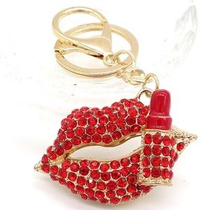 keychain lips lipstick bling handbag jewelry bling